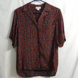 Vintage Christian Dior colorful button up shirt